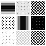 Tile vector pattern set Stock Photo