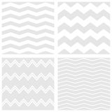 Tile vector pattern set with white and grey zig zag background Stock Photo