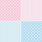 Tile vector pattern set with white polka dots Royalty Free Stock Image