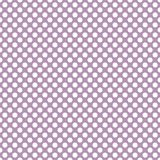 Tile vector pattern with white polka dots on pastel violet pink background. For seamless decoration wallpaper Stock Photo