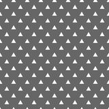 Tile vector pattern with white triangles on grey background Stock Photo