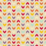 Tile vector pattern or wrapping background with zig zag print Royalty Free Stock Images