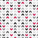 Tile vector pattern with zig zag arrows on white background Royalty Free Stock Image