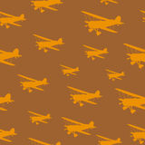 Tile vintage biplanes Stock Images