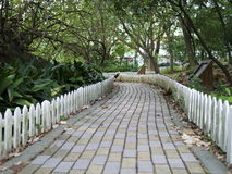 Tile walk path Stock Photos