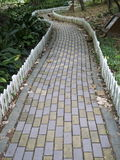 Tile walk path Stock Image