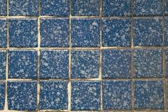 Tile wall. The blue kitchen or bathroom tile wall Stock Photos