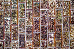 Tile wall with pattern plaster, background and texture Royalty Free Stock Image