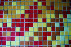 Tile Wall Red Yellow Brown Stock Photography