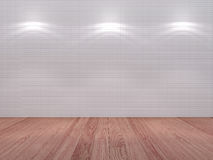 Tile wall with a spot illumination Stock Photography