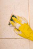 Tile washing Royalty Free Stock Photo