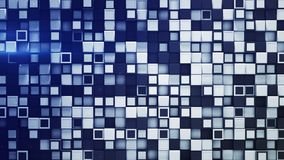 Tile of white and blue boxes abstract 3D rendering. Tile of white and blue boxes. Abstract geometric background. Computer graphic 3D rendering stock illustration