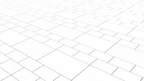 Tile white flooring, texture background, 3d illustration.  Royalty Free Stock Photography