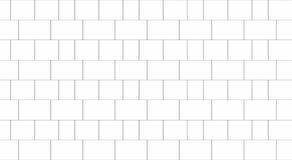 Tile white flooring, texture background, 3d illustration.  Royalty Free Stock Image