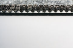 Tile. White walls and old tile roof Royalty Free Stock Photos
