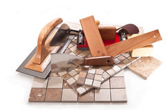 Tile work of high quality Stock Photo