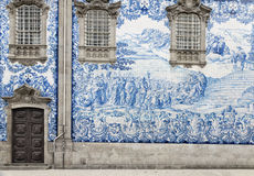 Tile work in Porto, Portugal Stock Photos