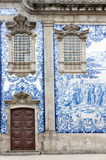 Tile work in Porto, Portugal Royalty Free Stock Images