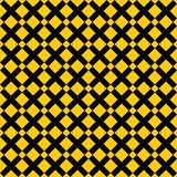 Tile yellow and black x cross vector pattern Stock Image