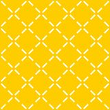 Tile yellow vector pattern with quilted background Stock Image