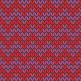 Tile zig zag knitting vector pattern or winter background Royalty Free Stock Images