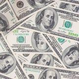 Tileable和无缝反复性的100's美国货币 免版税库存图片