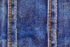 Tileable无缝的牛仔裤布料纹理 免版税库存照片