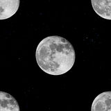 Tileable background moon and starg Royalty Free Stock Image