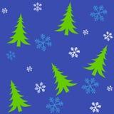 tileable bożego narodzenia 2 drzewa Zdjęcia Royalty Free