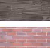 Tileable Brick and wood Textur Stock Image