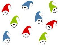 Tileable Christmas Smilies stock image