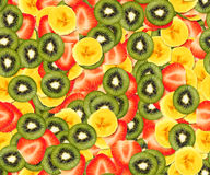 Tileable fruit background. Tileable background texture illustration of sliced fruits Royalty Free Stock Photos