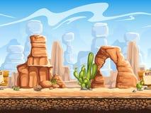 Tileable horizontal background wild west. Set1.  Stock Photo