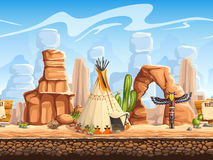 Free Tileable Horizontal Background Wild West. Set3 Royalty Free Stock Image - 52055966