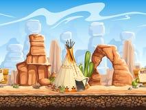 Tileable horyzontalny tło dziki zachodni Set2 Zdjęcie Stock