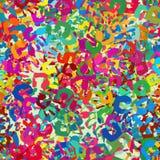 Tileable-Muster von bunten Handimpressen stockfoto