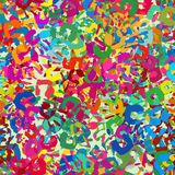 Tileable pattern of colorful hand imprints stock photo