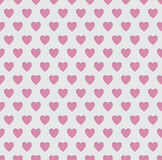 Tileable seamless pink heart pattern background Stock Photo