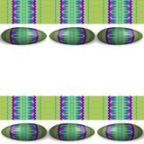 Tileable sidebar with colorful decorated easter eggs Royalty Free Stock Photography