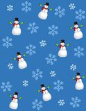 Tileable Snowman Blue 2 Stock Photo