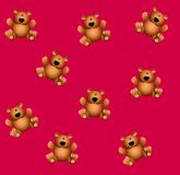 Tileable Teddy Bears Pink Stock Photos