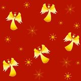 Tileable Xmas Angels Royalty Free Stock Photography
