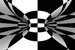 Tiled abstract background. Black & white tiled abstract background Stock Images