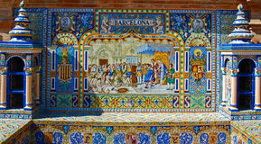 Tiled alcove of Barcelona Stock Photo