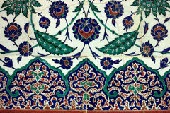 Tiled arabic wall Royalty Free Stock Image