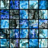 Tiled background. Of blue abstract squares Royalty Free Stock Image
