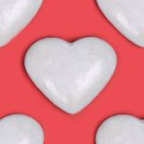 Tiled background - Be My Valentine Royalty Free Stock Photos