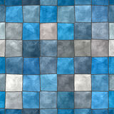 Tiled background. Blue and gray tiled background Royalty Free Stock Photos