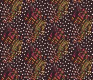 Tiled Background of Colorful Fabric Stock Image