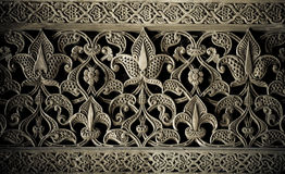 Tiled background with oriental ornaments Stock Images